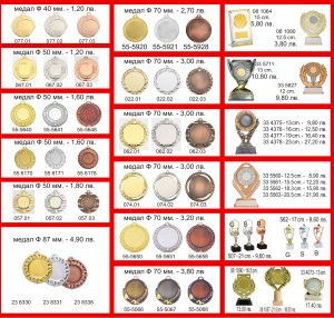 MEDALS AND PLAQEUS 2018